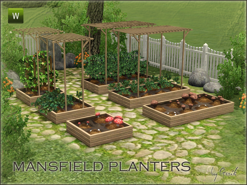 Multiple tile planters for Sims 3 free download