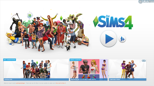 Sims 4 start screen update